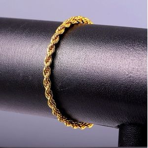 Other - New 18K real gold plated unisex bracelet